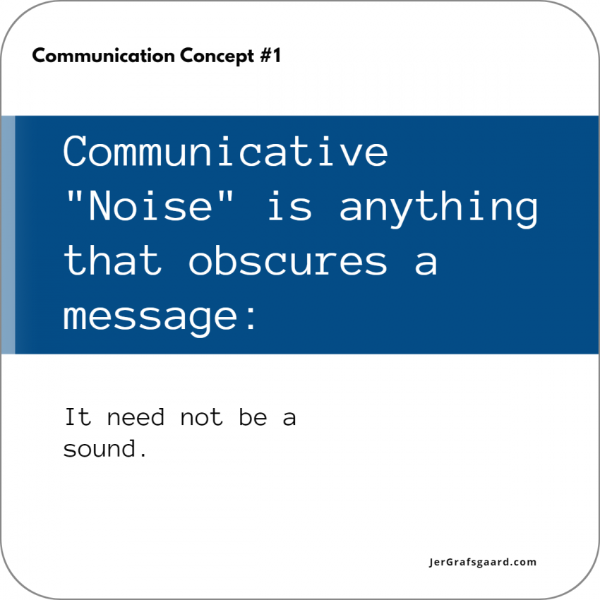 Communication Concept Number One